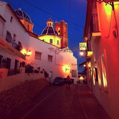 On my way to the beautiful church in Altea <3 My dream is to live in this beautiful town <3 Forever makes it happend <3