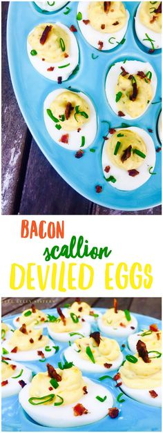 Bacon Scallion Deviled Eggs are the ultimate crowd-pleasing snack for any summer cookout or picnic: they're easy to make, taste delicious, and they're a fun twist on a classic appetizer!