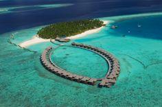 Aerial view at Vilu Reef Island Maldives --->>> www.voyagewave.com