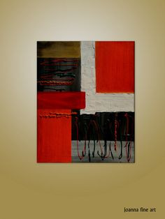 art acrylic painting   gray and Reds  Abstract by paintingcanvas, $110.00