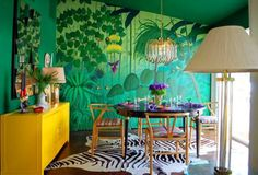 #tropical #decor #accesories #furniture #home #decorations #interior #design #ornaments #diybazaar #dining #colors #green #turquoise #purple #yellow #zebra #wallpaper More pictures on the website. Please click on picture to see! Thank you!