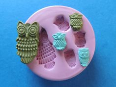Owl Mold Polymer Clay Resin Silicone Mould DIY Jewelry Finding