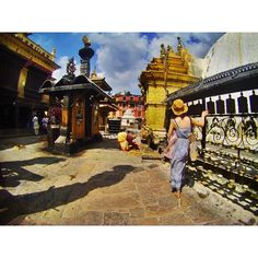 "Chant the mantra ""Om mani padme hum"" as you walk around the giant stupa clockwise and spin the Tibetan prayer wheels."