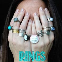 All sorts of fashion rings made by Bohéme Chic on etsy #jewelry #rings #shop #gifts