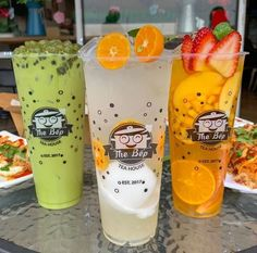 Candy Drinks, Yummy Drinks, Yummy Food, Clean Recipes, Cooking Recipes, Matcha Drink, Bubble Milk Tea, Fruit Packaging, Snacks Saludables