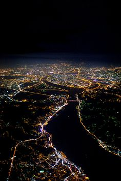 """""""Incredible airplane view of Taiwan Wonderful Places, Beautiful Places, Earth Photos, Taiwan Travel, Earth From Space, Birds Eye View, Nocturne, City Lights, Aerial View"""