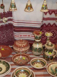Embroidery and ceramic ,W Ukraine, from Iryna