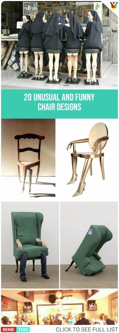 20 Unusual and Funny Chair Designs #humor #funnypics #funnypictures #bemethis