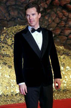 Benedict Cumberbatch looks dapper wearing a velvet tux.