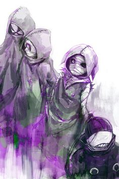 Eto, Noro and brothers Bin - Tokyo Ghoul