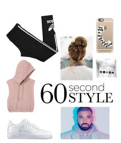 """""""60 second"""" by elena-horan7 ❤ liked on Polyvore featuring Casetify, RVCA, adidas, NIKE, DRAKE, views and 60secondstyle"""
