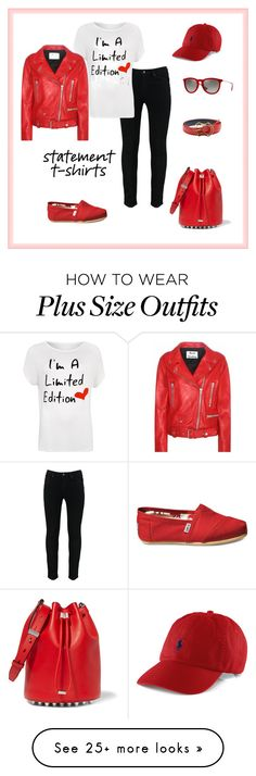 """""""Statement T Shirts"""" by l-bower on Polyvore featuring WearAll, TOMS, Ray-Ban, MANGO, Alexander Wang, Acne Studios and plus size clothing"""