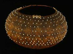 Native American beaded basket, 19th century. Peabody Essex Museum, Salem, MA.
