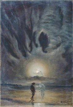 Frederic James Shields (1833–1911). Hamlet and the Ghost.