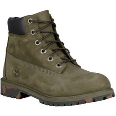 """Timberland 6"""" Premium Waterproof Boots Boys' Grade School ($130) ❤ liked on Polyvore featuring shoes"""