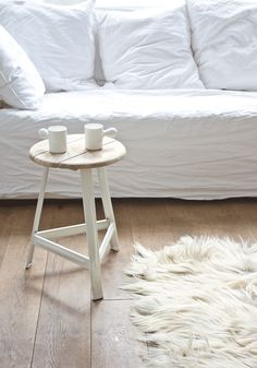 House Doctor DK Industrial stool 'Have a seat' — BODIE and FOU - Award-winning inspiring concept store My Living Room, Home And Living, Living Spaces, Design Rustique, Apartment Decoration, White Couches, White Carpet, Piece A Vivre, Simple House