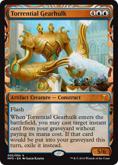 Torrential Gearhulk Masterpiece Series Kaladesh Inventions Magic the Gathering card