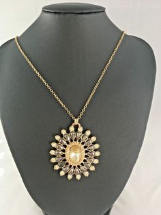 Lovely Pre-Loved/Vintage AVON Pendant Necklace Faceted Glass Crystal #Avon