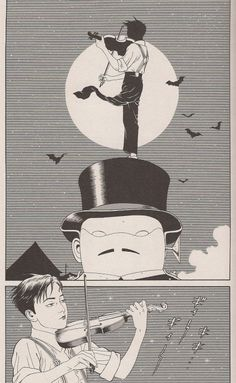 Comic panel from Tomino the Damned by Suehiro Maruo