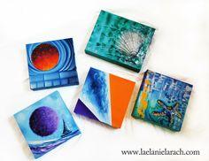Mini Nautical Paintings by Laelanie Larach >> www.laelanielarach.com