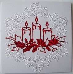 Christmas Cards set of 5 by: elisabunny I like the colours - not too sure about the embossed frame.