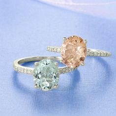 Morganite or Aquamarine ring with diamonds-would love to have my Morganite set in a rose gold and diamond band.