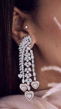 Diamond Jewellery, Diamond Earrings, Pearl Diamond, Ear Rings, Fashion Wear, Bliss, Jewerly, Origami, Studs