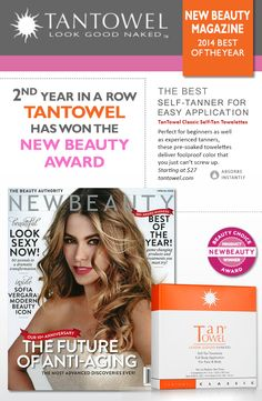 Another Awesome Award From New Beauty! #selftanning #tanning #sunlesstan www.tantowel.com