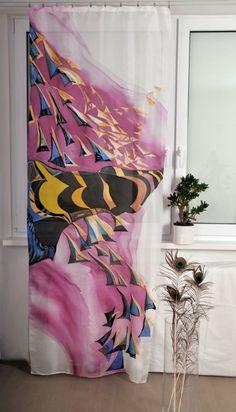 Hand painted silk curtain Egypt by dagamara on Etsy