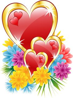 Valentine Hearts with Flowers PNG Clipart Picture​ Flower Phone Wallpaper, Heart Wallpaper, Love Wallpaper, Wallpaper Backgrounds, Wallpapers, Heart Pictures, Heart Images, Love Images, Valentines Illustration