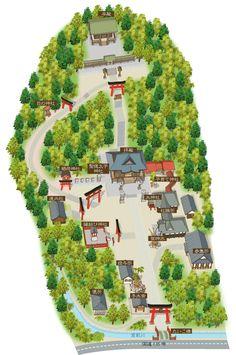 白濱神社境内案内図