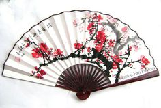 Cherry blossom design on the fan Chinese Fans, Chinese Paper, Wedding Favors For Principal Sponsors, Japanese Culture, Japanese Art, Cherry Blossom Theme, Cherry Blossoms, Fan Tattoo, Motif Vintage