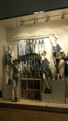 Urban Planet - 2016 S/S Window display. As you can see this window, they have various washed, lengths and fits of denim designs are a new arrival.