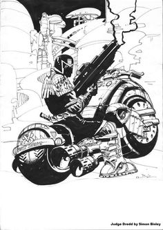 angelakamcomicart:  Judge Dredd by Simon Bisley