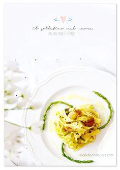 Pasta asparagi selvatici e guanciale Italian Pasta Recipes Authentic, Italian Recipes, Easter Recipes, Cabbage, Vegetables, Food, Spring, Vegetable Recipes, Eten