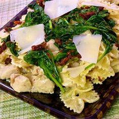 Mascarpone Pasta with Chicken, Bacon and Spinach - Allrecipes.com