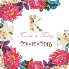 Floral Birthday Party - K&Elphy www.kandelphy.com 4th Birthday, Floral, Party, 4th Anniversary, Flowers, Parties, Flower