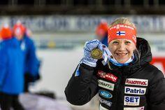 11.03.2015, Kontiolahti, Finland (FIN): Kaisa Mäkäräinen (FIN) Third place - IBU world championship biathlon, Individual Competition 15km, women, Kontiolahti (FIN),
