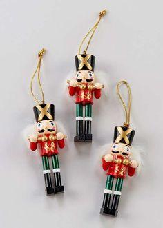 Christmas 3 Pack Mini Nutcracker Tree Decorations x x - Matalan Christmas Shopping, Christmas Home, Vintage Christmas, Christmas Ornaments, Thoughtful Christmas Gifts, Single Tree, Matalan, Tree Decorations, Holiday Decor