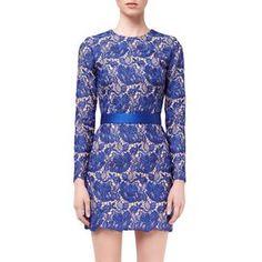 STELLA McCARTNEY, Mini, Ultra Blue Guipure Lace Celia Evening Dress