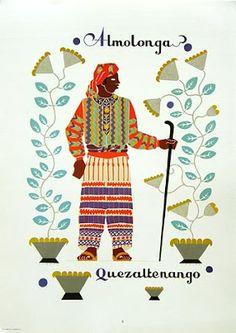 Trajes Indígenas de Guatemala, Carlos Mérida. Almolonga Quetzaltenango