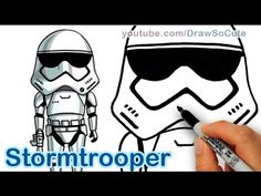How to Draw Star Wars Stormtrooper Cute step by step The Force Awakens