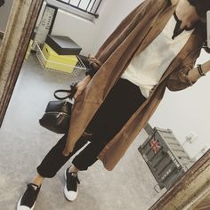 2015 Autumn Top Long Design Loose Shirt Suede Fabric Casual Long sleeve Turn down Collar Cardigan Thin Outerwear Trench Female-inBlouses & Shirts from Women's Clothing & Accessories on Aliexpress.com | Alibaba Group