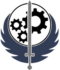this is the brotherhood of steel logo from the fallout games Skyrim Tattoo, Fallout Tattoo, Fallout Bos, Fallout 4 Wallpapers, Video Game Symbols, Fallout Brotherhood Of Steel, Fallout Theme, Vault Dweller, Tattoo