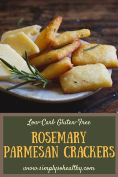Rosemary Parmesan Crackers Recipe - Simply So Healthy This recipe for Low-Carb makes a delicious snack. These crackers can be part of a or diet.This recipe for Low-Carb makes a delicious snack. These crackers can be part of a or diet. Low Carb Keto, Low Carb Recipes, Diet Recipes, Cooking Recipes, Healthy Recipes, Recipies, Banting Recipes, Atkins Recipes, Ketogenic Recipes