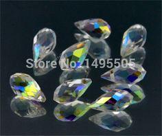 25 CÁI Teardrop CRYSTAL GLASS BEADS LOOSE 12 MÉT rõ ràng ab