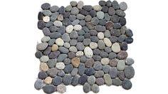 river rock tile | River Rock Grey Pebble Mosaic