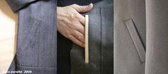 BCN - UNIQUE designer patterns: Bolsillo de 1 ribete