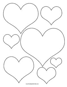 Heart-Template various sizes.jpg - File Shared from Box Felt Crafts, Diy And Crafts, Crafts For Kids, Paper Crafts, Felt Flowers, Paper Flowers, Paper Butterflies, Printable Heart Template, Heart Coloring Pages