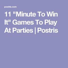 """11 """"Minute To Win It"""" Games To Play At Parties 